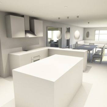 Interior view from new kitchen