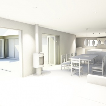 Interior view of new living space